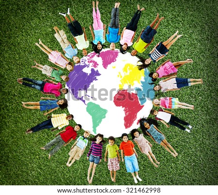 World Map Global International Globalization Concept - stock photo