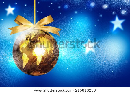 world map globe ornament ball christmas winter holiday