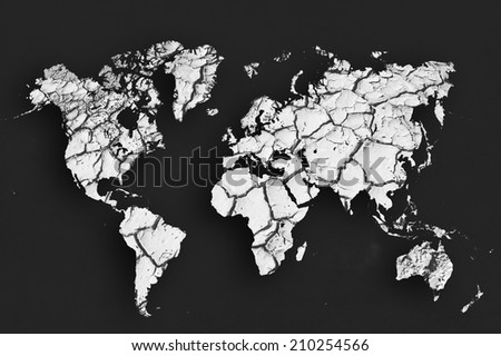 World map grunge background black white stock illustration 210254566 world map grunge background as black and white photo film gumiabroncs Gallery