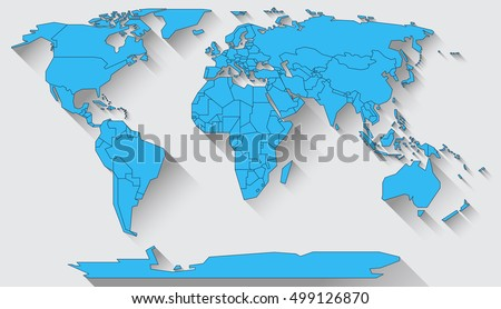 World map basic shapes all continents stock illustration 499126870 world map in basic shapes of all continents in flat design gumiabroncs Gallery