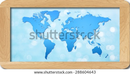World map wooden frame stock photo royalty free 288604643 world map in wooden frame gumiabroncs Images