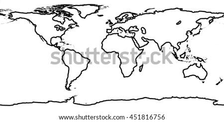 World map line border stock illustration 451816756 shutterstock world map line border gumiabroncs Image collections