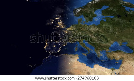 World map montage europe day night stock illustration 274960103 world map montage europe day night contrast public domain maps furnished by nasa gumiabroncs