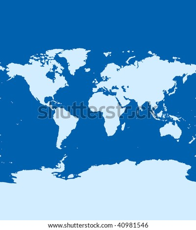 World map continents ocean on blue stock illustration 40981546 world map of continents and ocean on blue color computer generate image gumiabroncs Gallery