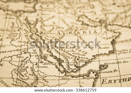 World map antique arabian peninsula stock photo royalty free world map of the antique arabian peninsula gumiabroncs Images