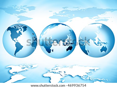World map on a technological background, bright lines and rays, symbols of the Internet, radio, television.  Best Internet Concept of global business.  elements of this image furnished by NASA