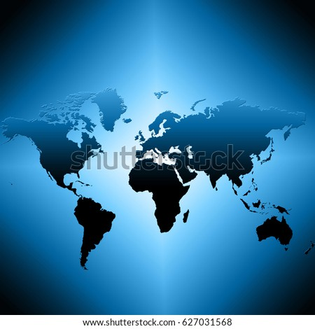 World Map Easy Edit Adjust Color Stock Vector 278227193 - Shutterstock