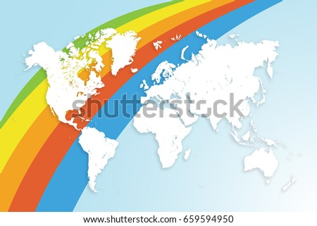 World map on colored background tourism stock photo edit now world map on colored background tourism concept banner or poster gumiabroncs Gallery