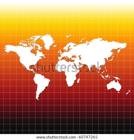 World map on grid black yellow stock illustration 60747265 world map on grid black yellow red color gumiabroncs Gallery