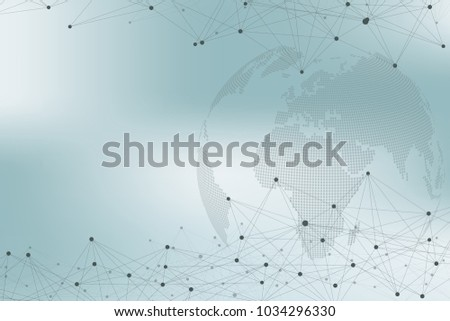 Drawing Lines In Mappoint : Global network connections points lines internet stock vector