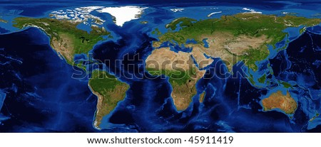 World map shaded relief bathymetry snow stock photo 100 legal world map shaded relief with bathymetry and snow cover in summer data source nasa gumiabroncs Choice Image