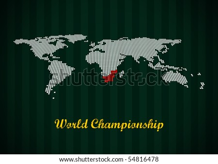 World map. Soccer championship.