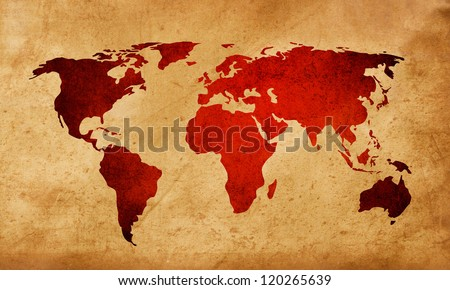 World Map Textures Backgrounds Your Design Stock Illustration - World map sepia toned