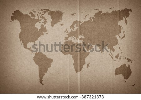 World map vintage pattern background color stock photo royalty free world map vintage pattern for background in color tonenatural recycled paper texture gumiabroncs Image collections