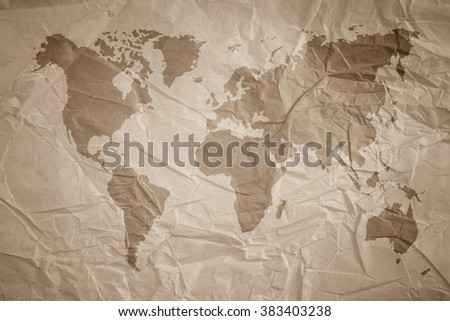 world map vintage pattern  for background in color  tone/Natural Recycled Paper Texture/Natural Recycled Paper Texture.Newspaper  blank  wall carpet covering art craft cardboard  canvas decor light . - stock photo