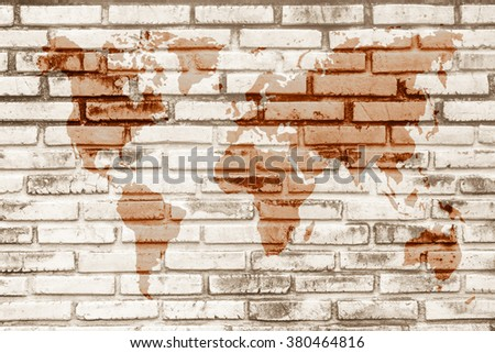 World map vintage pattern black white stock photo 380464816 world map vintage pattern for black and white brick wall texture background wall texture background gumiabroncs Images