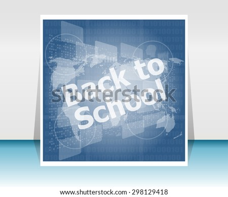 World map with back to school words, education concept - stock photo