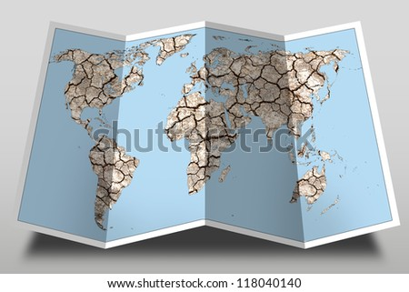 world map with earth design ,illustration - stock photo