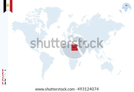 World map zoom on egypt cyprus vectores en stock 398203780 world map with magnifying on egypt blue earth globe with egypt flag pin zoom gumiabroncs Image collections