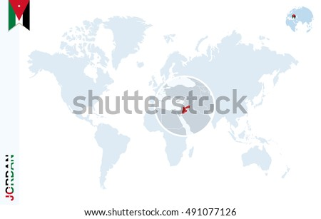 World map magnifying on jordan blue stock illustration 491077126 world map with magnifying on jordan blue earth globe with jordan flag pin zoom gumiabroncs Choice Image