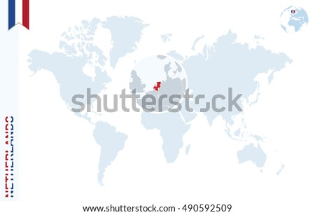 World map magnifying on netherlands blue stock illustration world map with magnifying on netherlands blue earth globe with netherlands flag pin zoom gumiabroncs Images