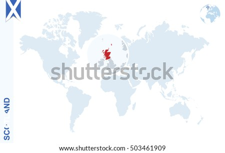 World map magnifying on scotland blue stock illustration 503461909 world map with magnifying on scotland blue earth globe with scotland flag pin zoom gumiabroncs Choice Image