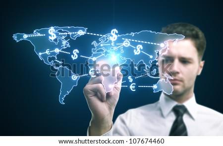 world money traffic concept - stock photo