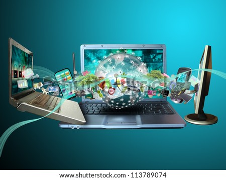 World multimedia - stock photo
