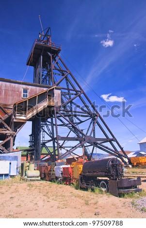 World Museum Of Mining, Butte, Montana - stock photo