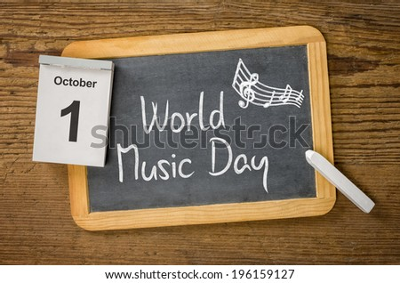 World Music Day, October 1