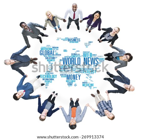 World News Globalization Advertising Event Media Infomation Concept - stock photo
