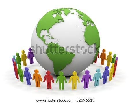 World partnership. 3d image isolated on white background. - stock photo