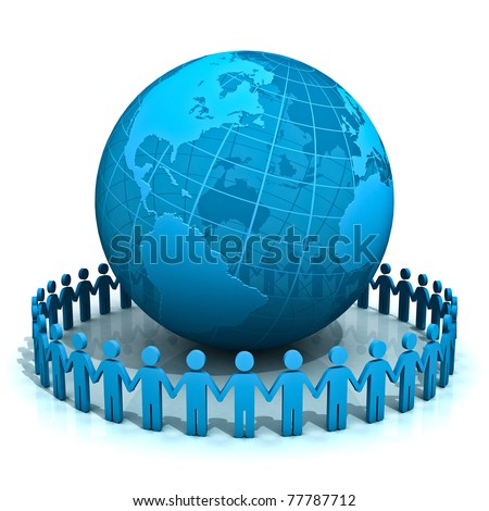World People - stock photo