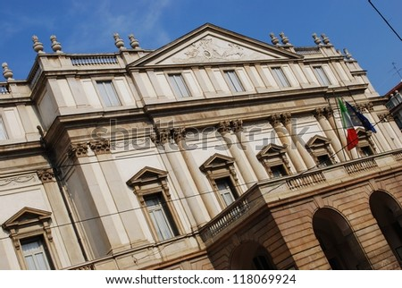 World's famous theater Scala in Milan, Italy - stock photo