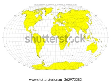 World sphere no labels gray grid stock illustration 362973383 world sphere no labels gray grid lines yellow countries publicscrutiny Gallery