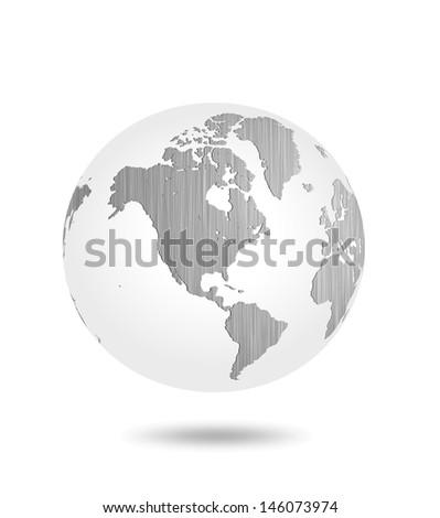 world steel surface  - stock photo