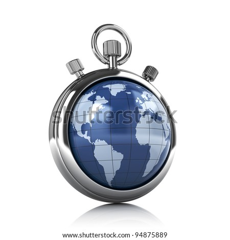 World stopwatch - time concept - stock photo