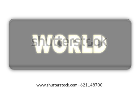 World Text for Title or Headline. In 3D Fancy Fun and Futuristic style