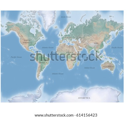 Topographic World Map Stock Images RoyaltyFree Images Vectors - Topographic map of the world