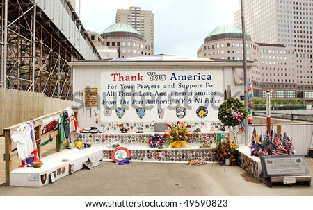 World Trade Center, Ground Zero memorial - stock photo