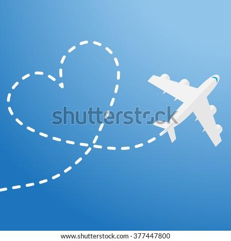 World travel and tourism concept illustration. - stock photo