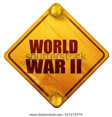 World war 2 background, 3D rendering, isolated grunge yellow roa - stock photo