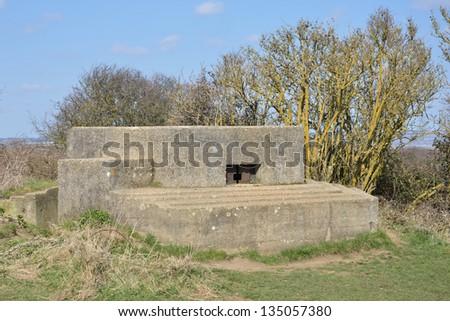 World war 2 Bunker - stock photo