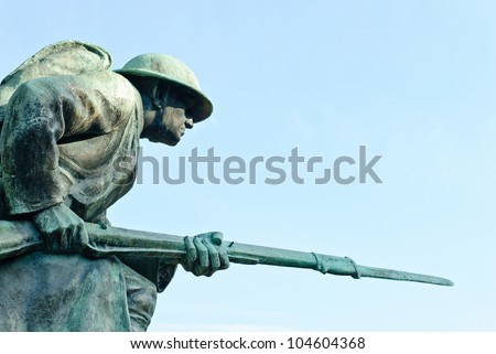 World War I Memorial at Veterans Plaza in Overton Park, Memphis, Tennessee, USA. - stock photo