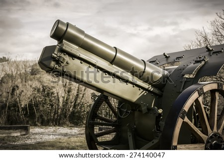 World War I monument (the Great War), a field gun.