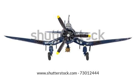 World War II fighter plane - stock photo
