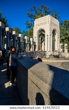 World war II memorial at Washington Dc 25.09.2016 USA