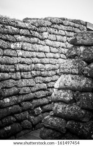 World war One Trench - Belgium - stock photo