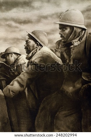 Ww1 soldiers stock images royalty free images vectors - Battlefield 1 french soldier ...