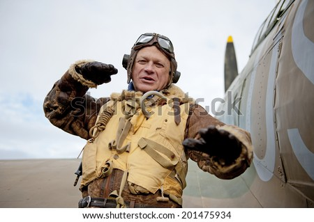 World War Two Flying Tactics - stock photo